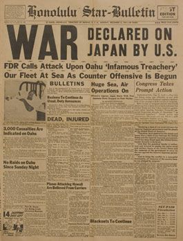 historic newspaper headlines | IMAGE] World War II Newspaper Headlines