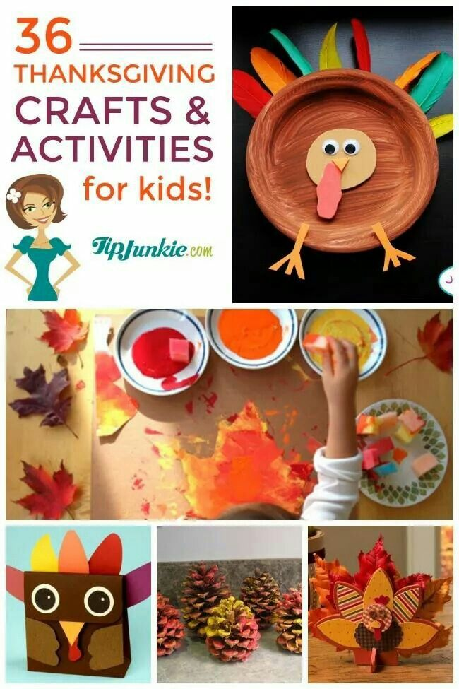 36 Thanksgiving crafts and activities