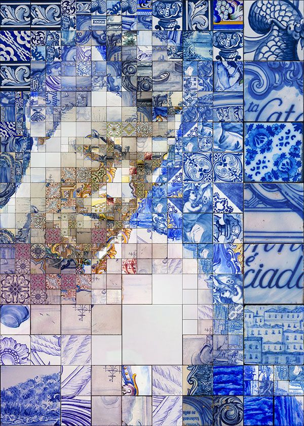 The pride of old and contemporary Portugal collide. Designer Charis Tsevis created a series of Cristiano Ronaldo-inspired mosaic illustrations based on the great Portuguese tradition of Azulejo.