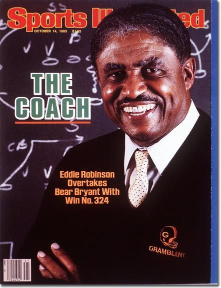 Grambling Football - Coach Eddie Robinson -  was an American football coach. For 57 years from 1941 to 1997, he was the head coach at Grambling State University. He is the most winning football coach in Football Championship Subdivision (division I-AA) history with 408 wins.