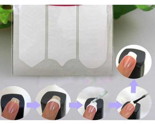 3 styles in French Nail Tip Guide Stickers, DIY Nail Art, 3D Nail Design, nail guide stickers, french tip stickers by RhinestoneDazzle