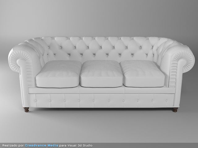 3d sofa blanco