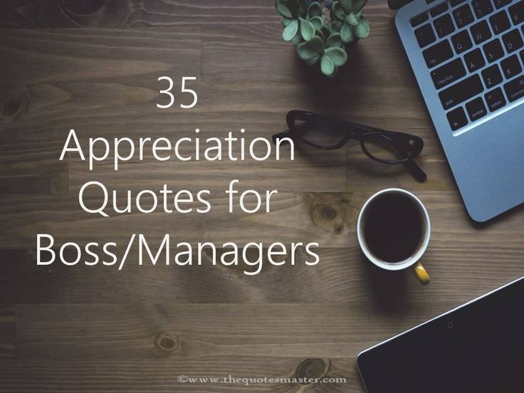 Compilation of 35 Best Appreciation Quotes for Boss/Managers.
