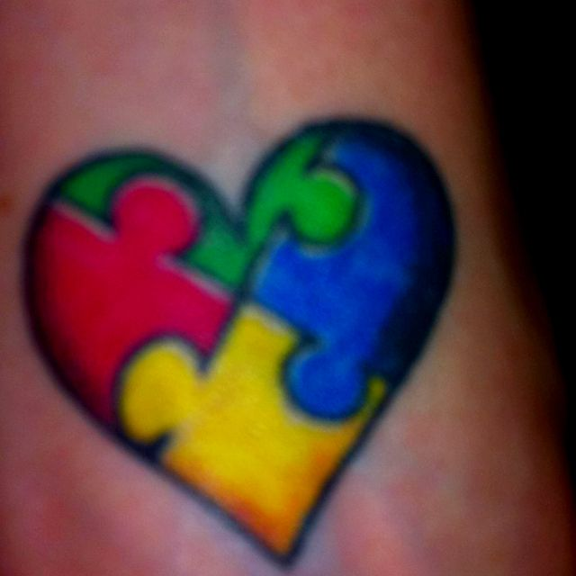 My Autism Awareness Tat on my wrist! For my son, Kaius, who is 5!
