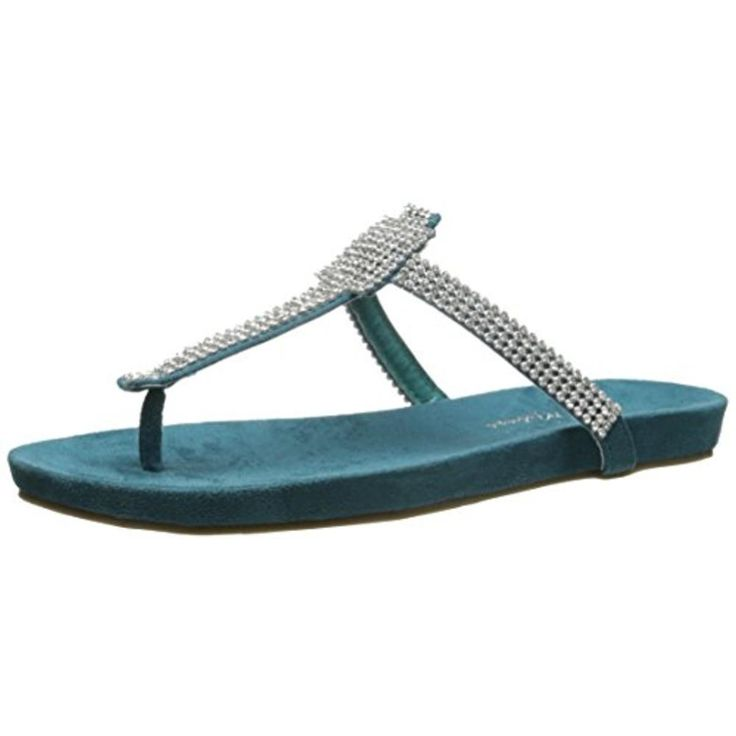Matisse Womens Rhinestone Thong T-Strap Sandals