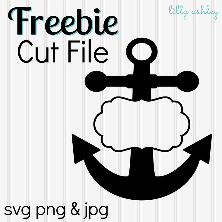 Make it Create by LillyAshley...Freebie Downloads: Freebie Anchor Cutting File & New Anchor Set in the Shop! #freecutfiles
