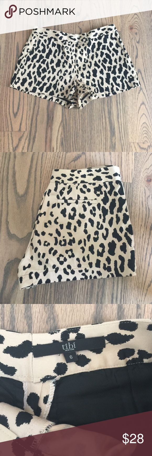 Tibi cheetah / leopard print shorts Like new Tibi shorts in a fun cheetah / leopard print! These shorts run small. They are a 6 but fit like a 4. Length measures 11 in and waist measures about 28-29 inches Tibi Shorts