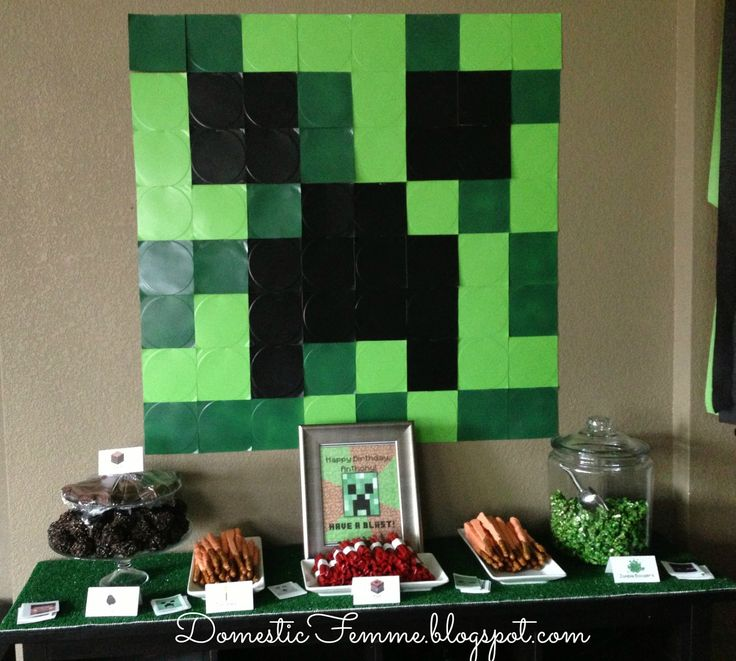 50 best birthday party minecraft images on pinterest birthday minecraft birthday party table display by domestic femme solutioingenieria Images
