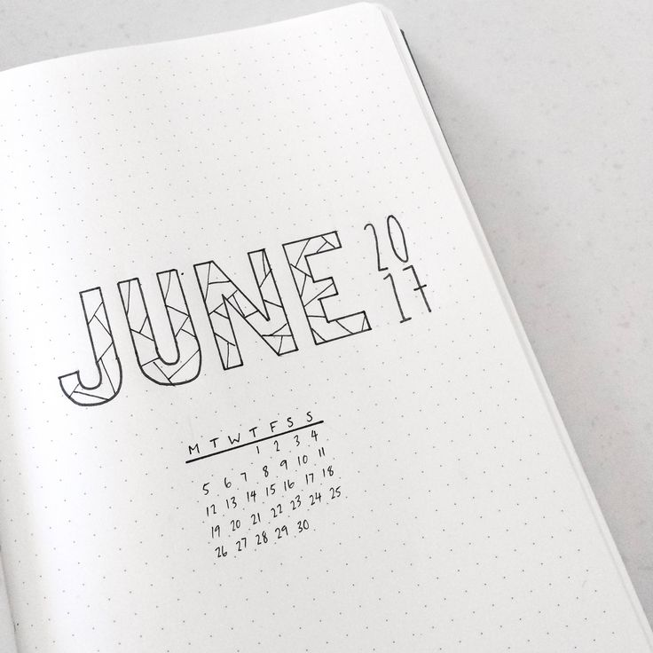 ONE DOLLAR June printable for journal or planner! Bujo/Bullet Journal Monthly. by whiteplans on Etsy