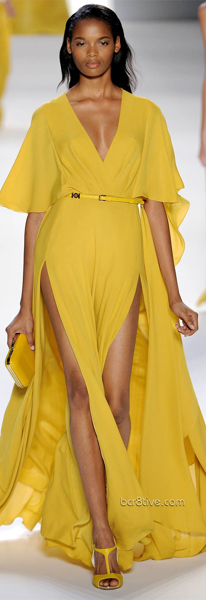 Yellow Summer Stunner - Double Hip Split floor sweeping Gown! Elie Saab Spring Summer 2012 Ready to Wear
