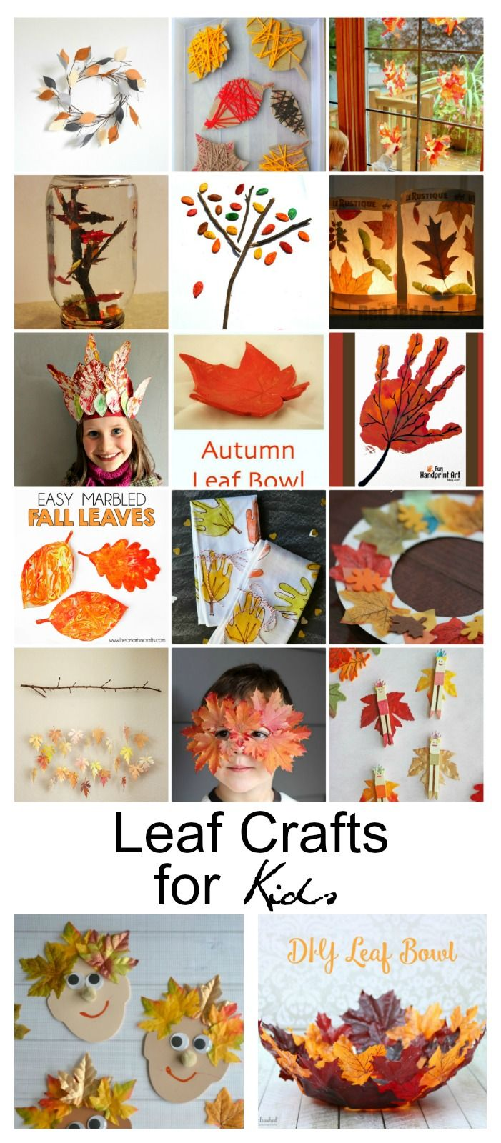 As the air turns crisp and the season begins to change, it puts me in the mood to start crafting with my kids with all of these amazing Fall colors. I've put together a roundup of Fall Leaf Crafts for Kids that is sure to get you into the Fall mood as well.