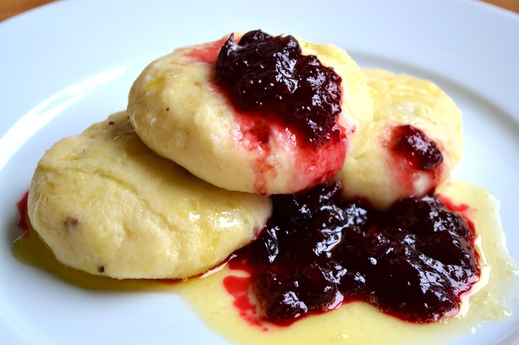 potato dumplings with melted butter and lingonberries  Norwegian delight