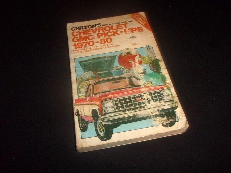 Vintage Chilton's Repair Manual  CHEVY GMC PICKUPS 1970-1980 - Fair Condition! #Chiltons