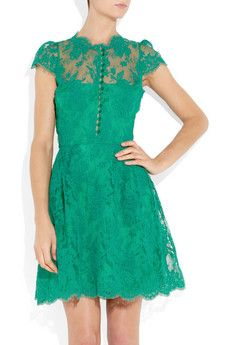 Green with envy lace dress