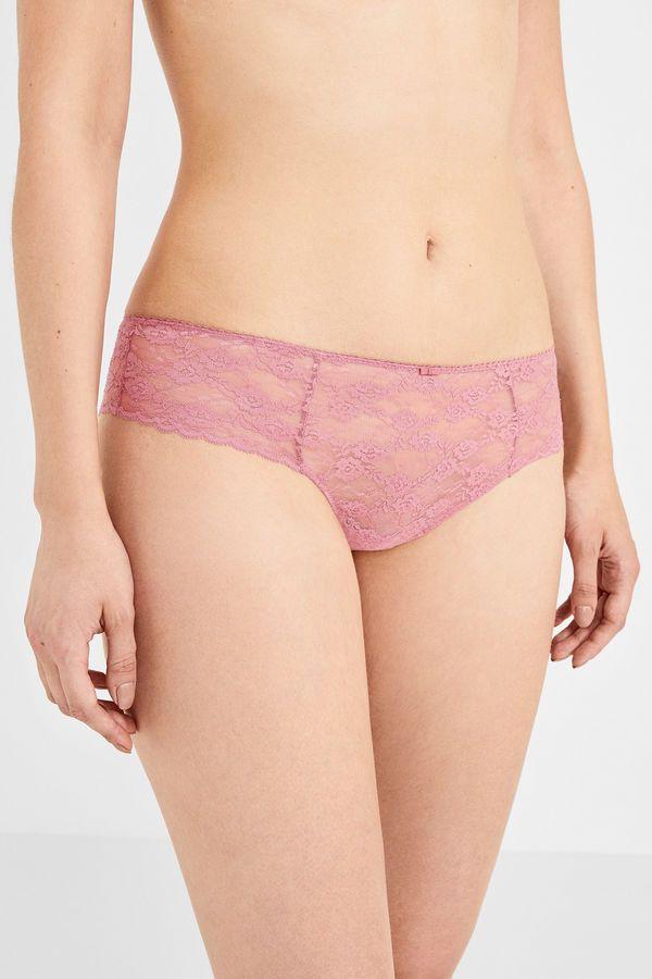 d8e4322cb0 Womensecret Culotte brasileña de encaje rosa