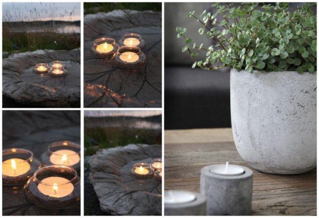 gartendeko-beton-glas-teelichthalter-