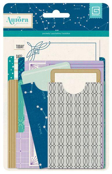 BasicGrey - Aurora Collection - Mini Library Pockets at Scrapbook.com