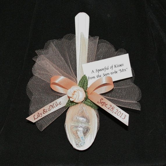 "Personalized Favors ""Spoonful of Kisses"" for Wedding, Rehearsal Dinner, Anniversary or Bridal Shower"