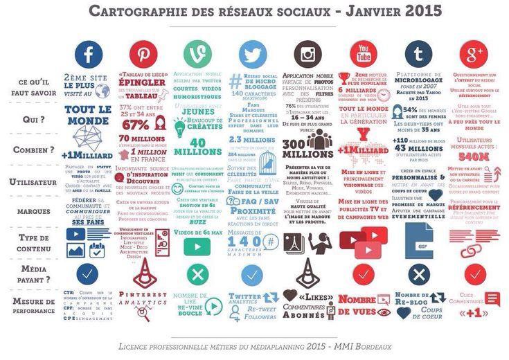 Cartographie des réseaux sociaux 2015