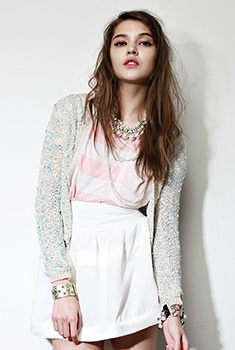 lights. #summer #fashion: Boucle Open, Jackets Blue, Open Front, Public Display, Colors Analysis, Fashion Makeup Ideas, Effortless Chic, Front Jackets, Style Ideas
