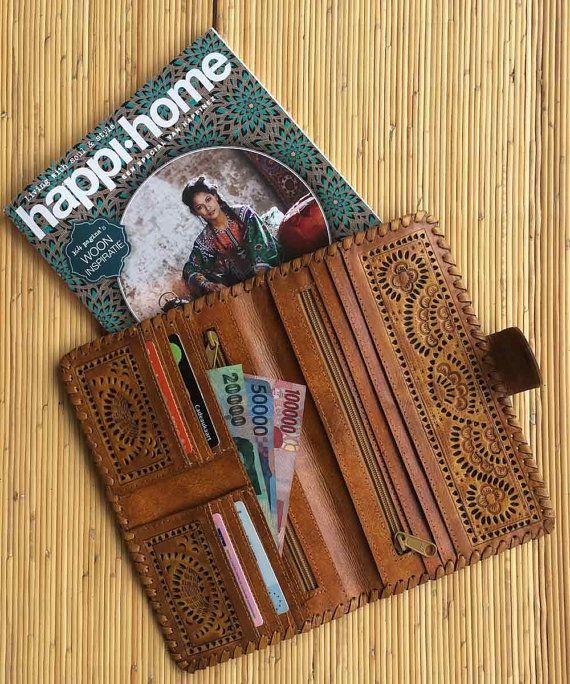 Big Leather wallet / women's leather wallet / by InfinityWears