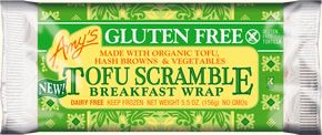 Gluten Free Tofu Scramble Breakfast Wrap (Vegan)    With savory organic tofu, hash browns and vegetables. It's a great small meal or on-the-go snack!