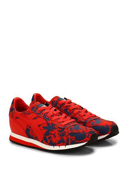 DIADORA Heritage - Sneakers - Uomo - Sneaker in tessuto stampato e pelle con suola in gomma. Tacco 25, platform 10 con battuta 15. - RED\BLU - € 165.00