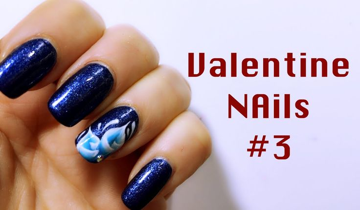 Lily Flower 4 Valentine Day | Nail Art Tutorial | mikeligna