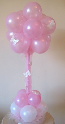 Pretty in pink with added butterflys - this is a lovely table centrepiece or addition to a cake table or sweetie table.