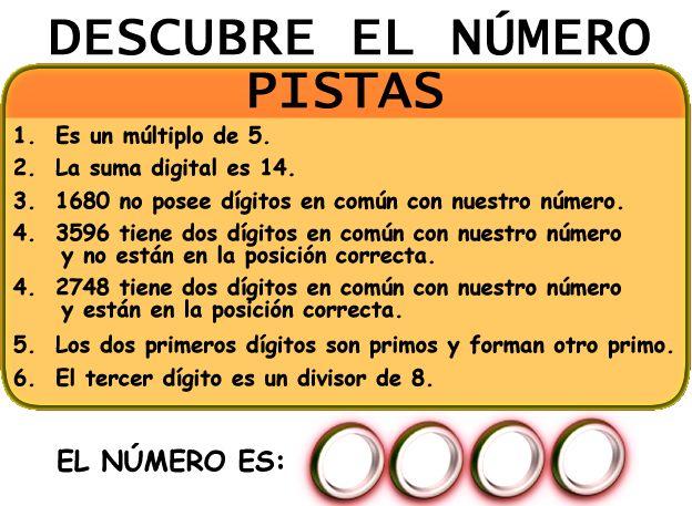 Muy sencillo, dice que es múltiplo de 5, a fuerza termina en 0 ó 5, después dice que el 0 no es parte del # entonces termina en 5, si su suma da 14, faltan 9, luego dice que hay dos # primos que suman otro primo, podría ser 1 y 2, ó 3 y 2, luego dice que de 2748 están en posición correcta, por lo tanto es 2345, fácil ¿no?