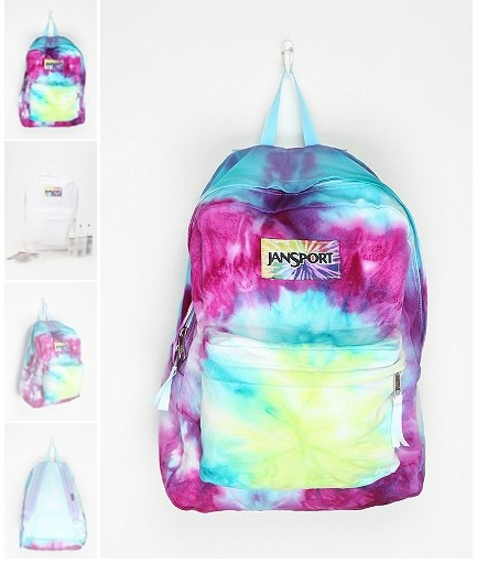 Tie-Dye your own backpack!  From UrbanOutfitters.com