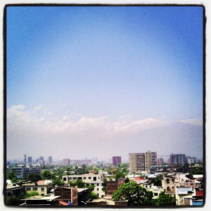 Santiago con nubes