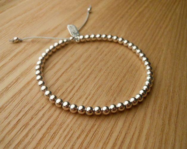 +_*Armband Silber 925/1000*_+ -925 Silber perlen: 4mm -Nylon Tipp von Vea: Knoten knüpfen, Spülwasser, sehr hart anziehen und fertig, wird es dich nicht verlassen, in dieser...