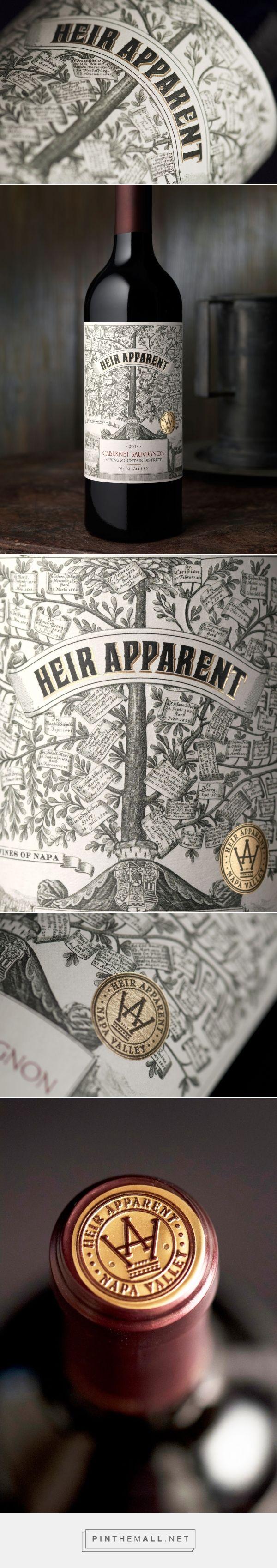 Heir Apparent wine label design by CF NAPA Brand Design - http://www.packagingoftheworld.com/2017/07/heir-apparent.html - created via https://pinthemall.net