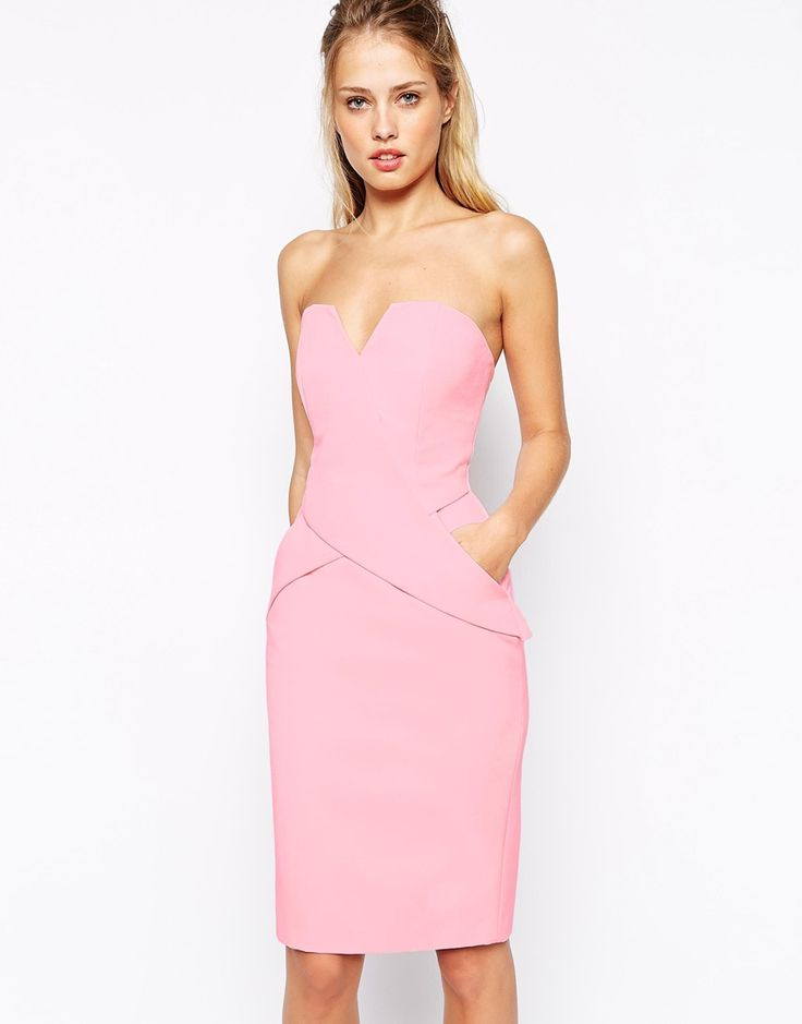 Wearing this pink cocktail dress with pointed high heels and crystal & faux pearl teardrop hoop earring will make you look special ... like the cuttest girl at the event.