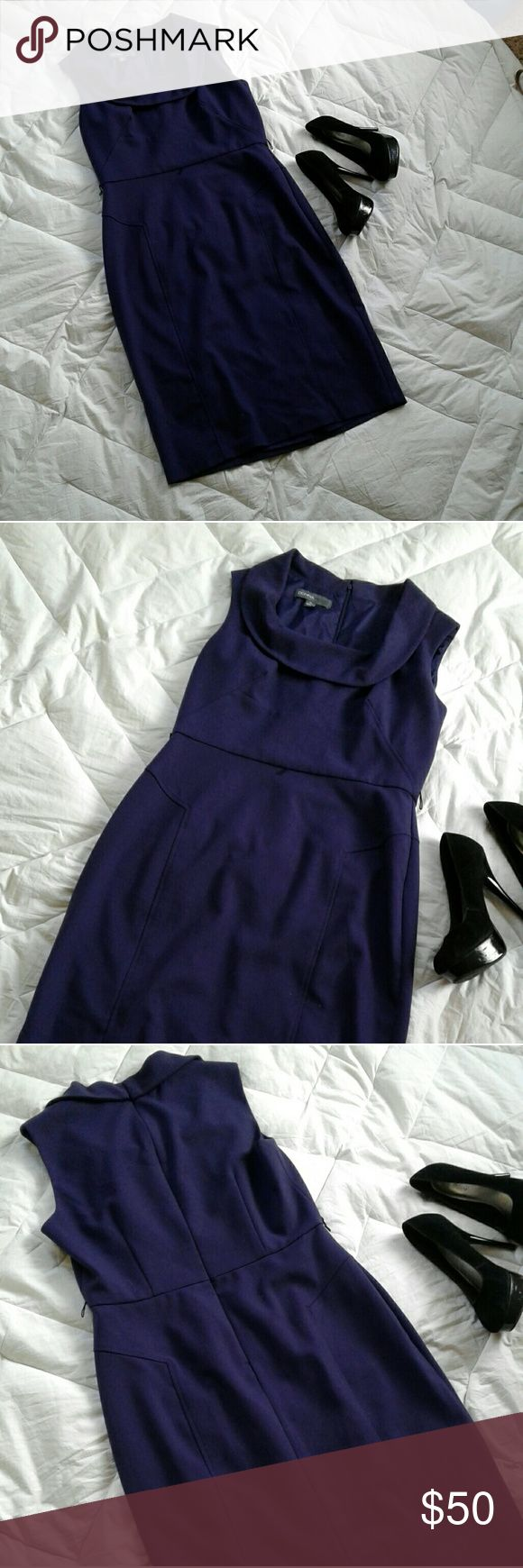 Donna Ricco Dress. Purple scoop neck professional dress. Should be worn for work or happy hour. Perfect for women with curves! Offers welcome; Donna Ricco Dresses Midi