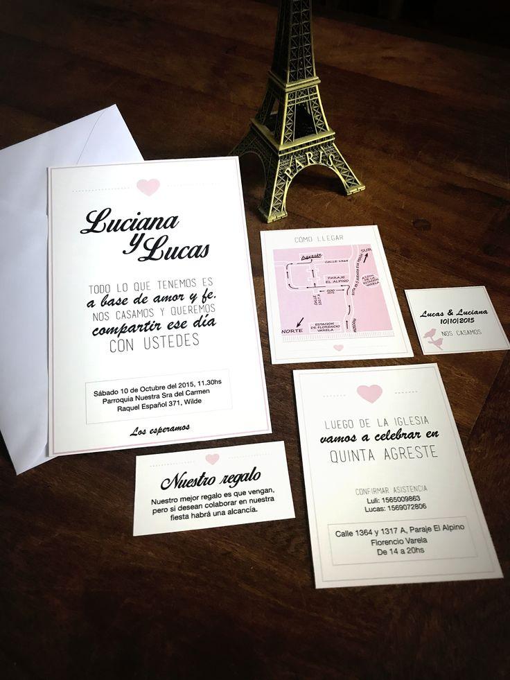Invitación Paris   Invitación Papel Madera con sobre blonda 10x15  #Invitaciones #Casamiento #Bodas #Diseñografico #Papeleria #WeddingPlanner #Organizaciondeeventos #Wedding #Desing #Invitacionesdeboda #Blonda #Invitacionconblonda #novios #amor #love #invitation