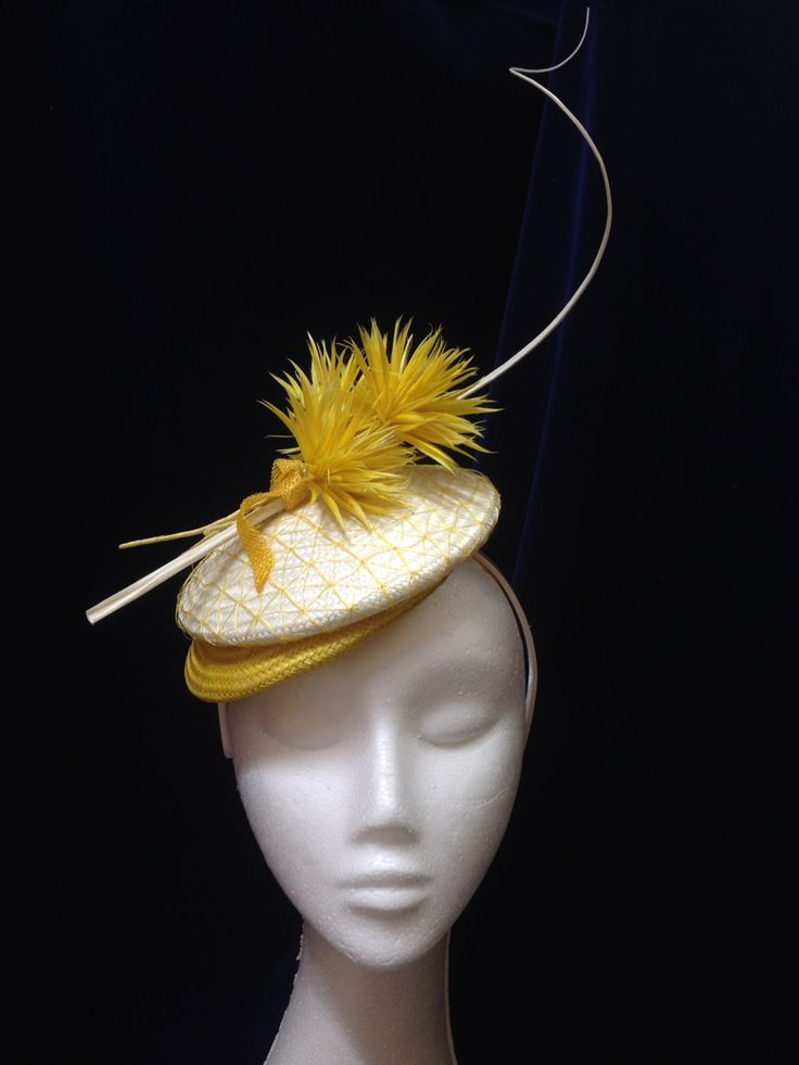 Lemonade headpiece by Melissa-Gaye Designs  #millinery#hats#fashionsonthefield#melbournecup