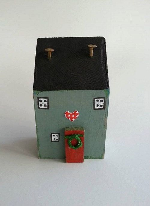 Little CottageRustic HouseReclaimed artChristmas House by TTassel