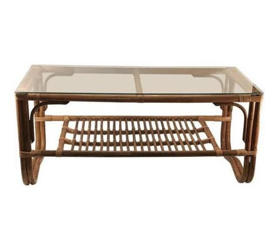 Free And Insured Shipping Within Us 20th Century Safari Etsy Rattan Coffee Table Coffee Table Rectangle Coffee Table