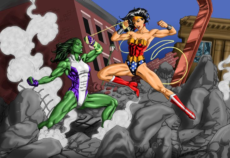 Fight Like A Girl Computer Wallpaper Wonder Women Vs She Hulk Women Who Kick Ass Wonder