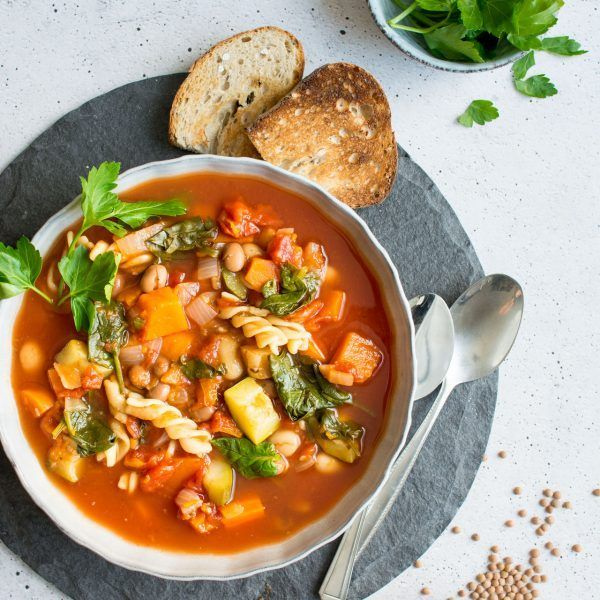 Winter Vegetable Minestrone Soup