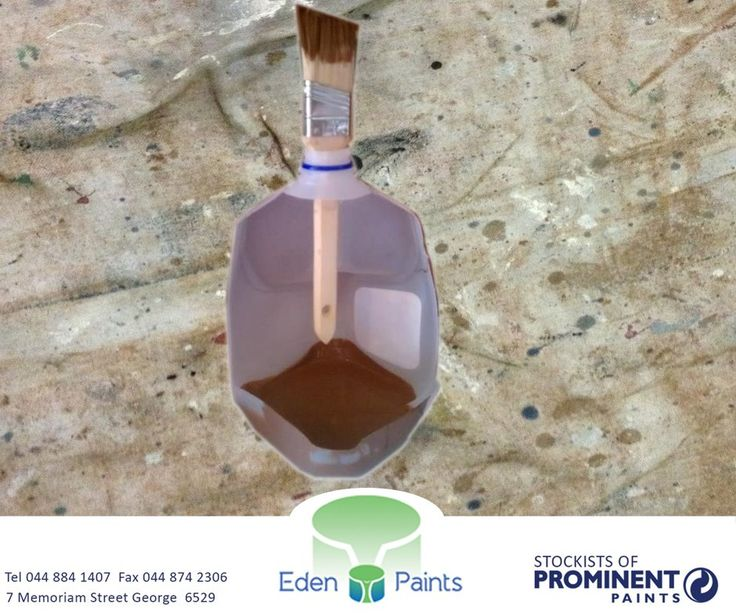 Use an old plastic bottle and fill the base with sand so it doesn't tip over, to put your brush in when you take breaks from painting. #EdenPaints #DIY #tip