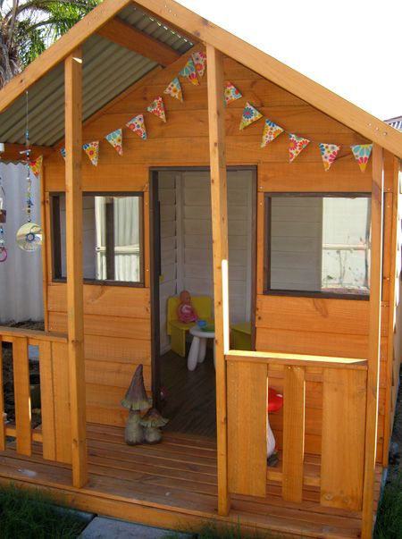 Plan & diy cubby house in courtyard .... C to make with slippery slide & sand pit