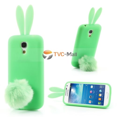 Green Rabbit Silicone Case for Samsung Galaxy S4 mini