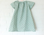 Girl's Peasant Dress and Short Set in Robin' Egg Blue from Little Ra's #DEAF2012