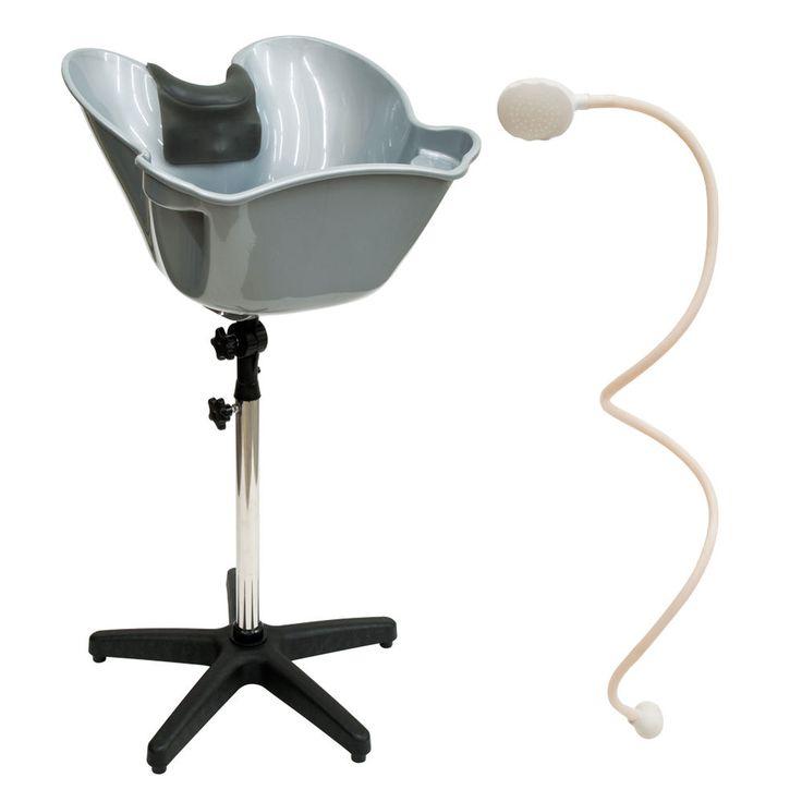Portable Ajustable Hair Shampoo Basin Gel Neck Rest Spray Hose Nozzle Salon  Set