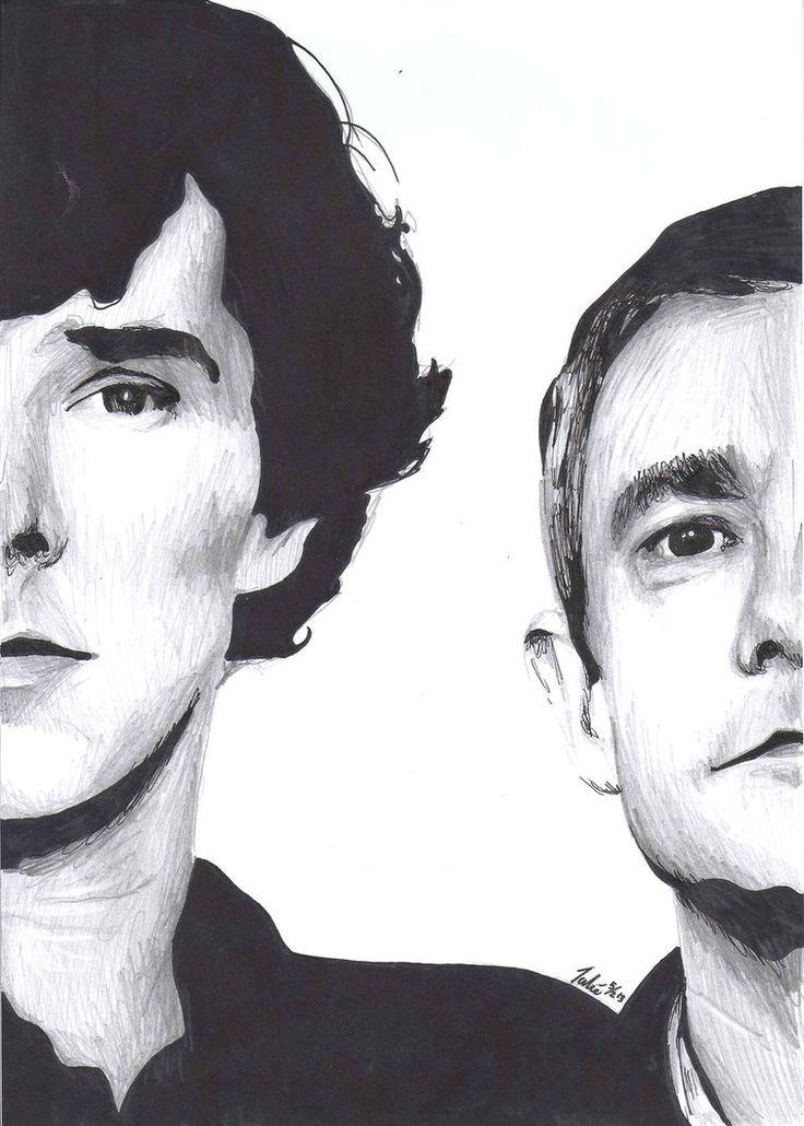 Sherlock Holmes and John Watson by Shuploc