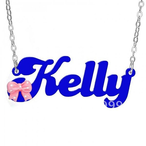 Custom Made Acylic Name OR Word Necklace by madetoinspire on Etsy, $23.00