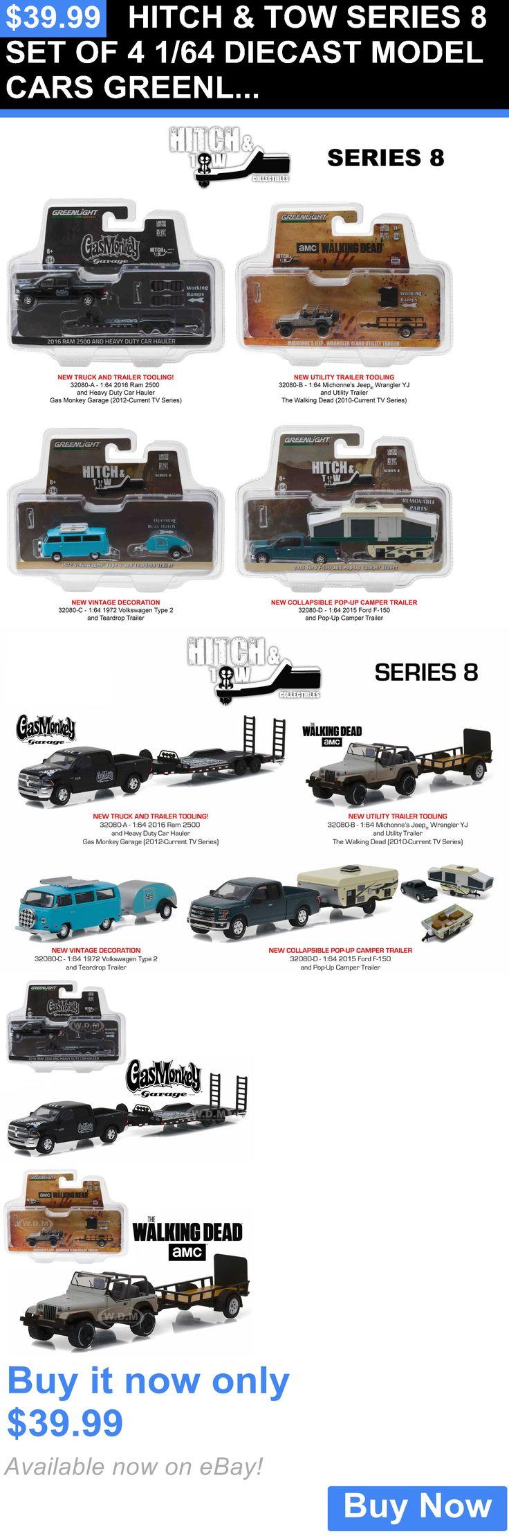 Toys and games hitch and tow series 8 set of 4 1 64 diecast